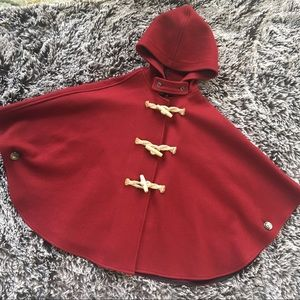 Fedelity by Gerald&Steward cape coat red wool OS